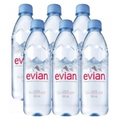 《evian依雲》法國天然礦泉水(500mlx6瓶/組)