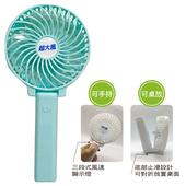 《超大風》多用途可摺疊充電風扇 21x11x4.5cm AB-001藍色 $128
