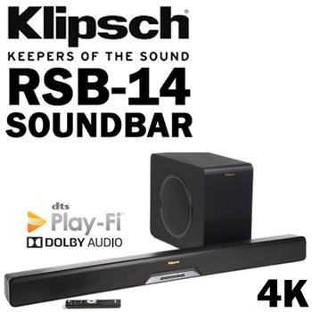 《Klipsch》Klipsch 古力奇 RSB-14 SOUNDBAR 家庭劇院 喇叭 杜比 公司貨 含無線超低音