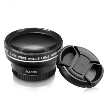 《買一送一》升級版2合1鋁合金專業廣角鏡頭(黑+黑)