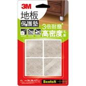 《3M》米色地板保護墊(38mm/4入/方型)