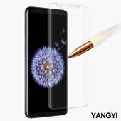 《YANG YI 揚邑》Samsung Galaxy S9+ 6.2吋 滿版軟膜3D曲面防爆抗刮保護貼(S9+)