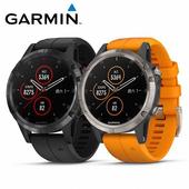 《Garmin》Fenix 5 Plus 行動支付音樂GPS複合式心率腕錶(光耀橘)