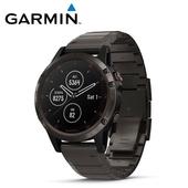 《Garmin》Fenix 5 Plus 行動支付音樂GPS複合式心率腕錶(石墨灰-鈦)