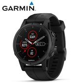 《Garmin》Fenix 5S Plus 行動支付音樂GPS複合式心率腕錶(時尚黑)