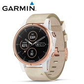 《Garmin》Fenix 5S Plus 行動支付音樂GPS複合式心率腕錶(玫瑰金)