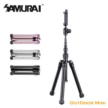 《SAMURAI》OutDoor Mini 1 偏心管五節三腳架(經典黑)