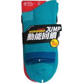 《蒂巴蕾》動能回饋抗菌防臭運動襪短統 - 男(藍綠)