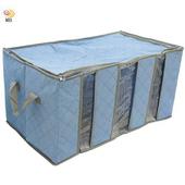 《月陽》60cm彩色竹炭3格衣物收納袋整理箱(C120LN)(綠色)