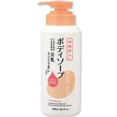 《日本熊野》豆乳精華保濕沐浴乳(600ml)