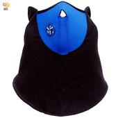 《月陽》加長透氣型半罩式防塵防風防寒面罩口罩(2746)(藍色)