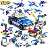 城市系列-16合一 城市警察  新款積木 (兒童益智拼裝早教玩具))