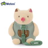 《Metoo》呆萌貓咪 牽引繩 防走失兒童背包(27*25*12cm)