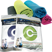 運動涼感降溫冰巾 27x77cm(顏色隨機出貨)