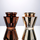 《Novella Amante》Metallico 金屬光玻璃花瓶香檳金 $990