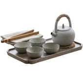 《SCENEAST》中式白泥提梁套裝茶具組白泥陶 $1890