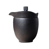《SCENEAST》中式茶壺杯鐵銹快客杯一壺一杯附收納袋(H11 寬9cm 內杯容量180毫升,外杯容量200毫升)