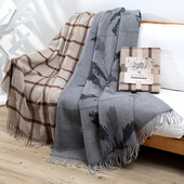 《halla malmo》緹花羊毛毯-紳士格紋(130*170+2*10cm)