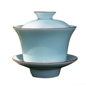 《SCENEAST》中式茶杯影青高底蓋杯