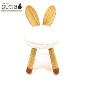 《Putia》日本兒童動物造型木製椅-兔子(兔子)