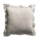 《halla malmo》北歐風三層緹花抱枕套-不含枕心(45x45cm/灰色)