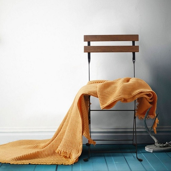 《halla malmo》北歐風格Waffle冷氣毯(共三色)(黃色)