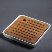 《SCENEAST》中式四方脂白茶盤