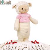 《Bobi》勾針娃娃-白色綿羊芭芭拉-Chubby