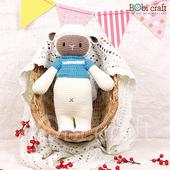 《Bobi》勾針娃娃-白色綿羊-波比- Chubby Poppy(40(H) WT-178CRE-M-L)