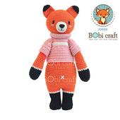 《Bobi》勾針娃娃-粉衣狐狸先生- Chubby Foxxie(40(H) WT-180ORG-F-L)