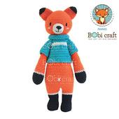 勾針娃娃-藍衣狐狸先生- Chubby Fennis