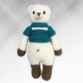 《Bobi》勾針娃娃-藍衣熊熊騎士-Little Knight Bobbie(30(H)/WT-209ACR-M-M)