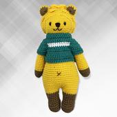 《Bobi》勾針娃娃-黃色熊熊騎士-Little Knight Leo(30(H) /WT-210YEL-M-M)
