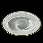 《Novella Amante》創意雲彩金邊餐盤(25.5-27.5cm)