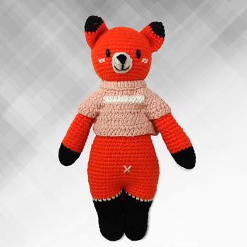 《Bobi》勾針娃娃-粉衣狐狸騎士-Little Knight Foxxie(30(H) /WT-213ORG-F-M)