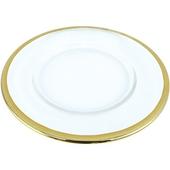 《Novella Amante》創意金邊錘紋餐盤(8吋)
