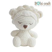 《Bobi》勾針娃娃-小小里昂-Mini Leo Softie(15(H) /WT-131WHI-M)