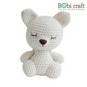 《Bobi》勾針娃娃-小小狐狸先生-Mini Foxxie Softie(15(H) /WT-134WHI-M)