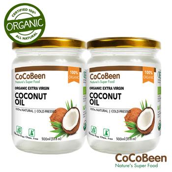 《斯里蘭卡CoCoBeen》有機初榨冷壓椰子油2入組(500ml/瓶)