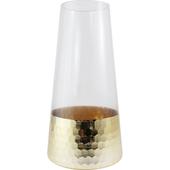 《Novella Amante》Venice 金色飾底玻璃花瓶圓梯型/ 25 cm $650