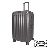 《Batolon寶龍》【30吋】 窈窕運動 TSA鎖PC鋁框箱/行李箱/旅行箱(紳士灰)