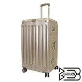 《Batolon寶龍》【26吋】 窈窕運動TSA鎖PC鋁框箱/行李箱/旅行箱(香檳金)