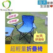 《海夫健康生活館》Nature Heart 超輕量 加大 舒適 折疊椅 2入(R0067)(深藍*2)