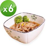 《樂活e棧》低卡蒟蒻麵 海藻烏龍210g/包+南瓜蘑菇濃湯13g/包(共6份)