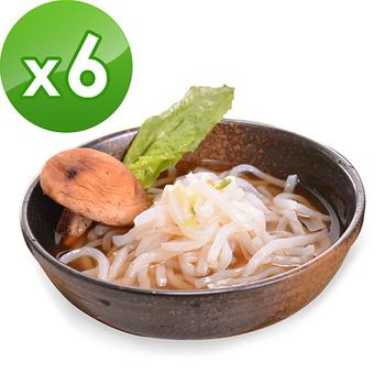 樂活e棧 低卡蒟蒻麵 原味烏龍210g/包+南瓜蘑菇濃湯13g/包(共6份)