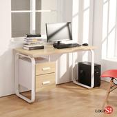 LOGIS 時尚HOME LIFE 120*60CM工作桌 書桌 電腦桌 多用途 木紋桌 LS-0012(淺木紋色)
