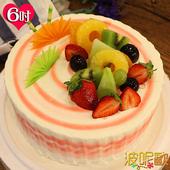 《波呢歐》酸甜草莓雙餡鮮奶蛋糕(6吋)