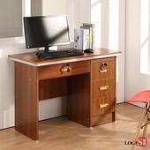 LOGIS高效收納方案工作桌 書桌100cm電腦書桌 多用途桌 胡桃木紋桌 辦公桌 LS-201(淺胡桃色)