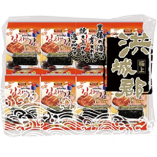 《洪城郡》岩烤海苔-泡菜口味(4g*16入/包)