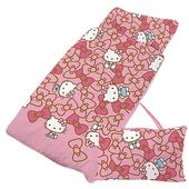 《Give Me Buy》卡通精梳棉兩用兒童睡袋4x5尺(HELLO KITTY 我的娃娃(粉))